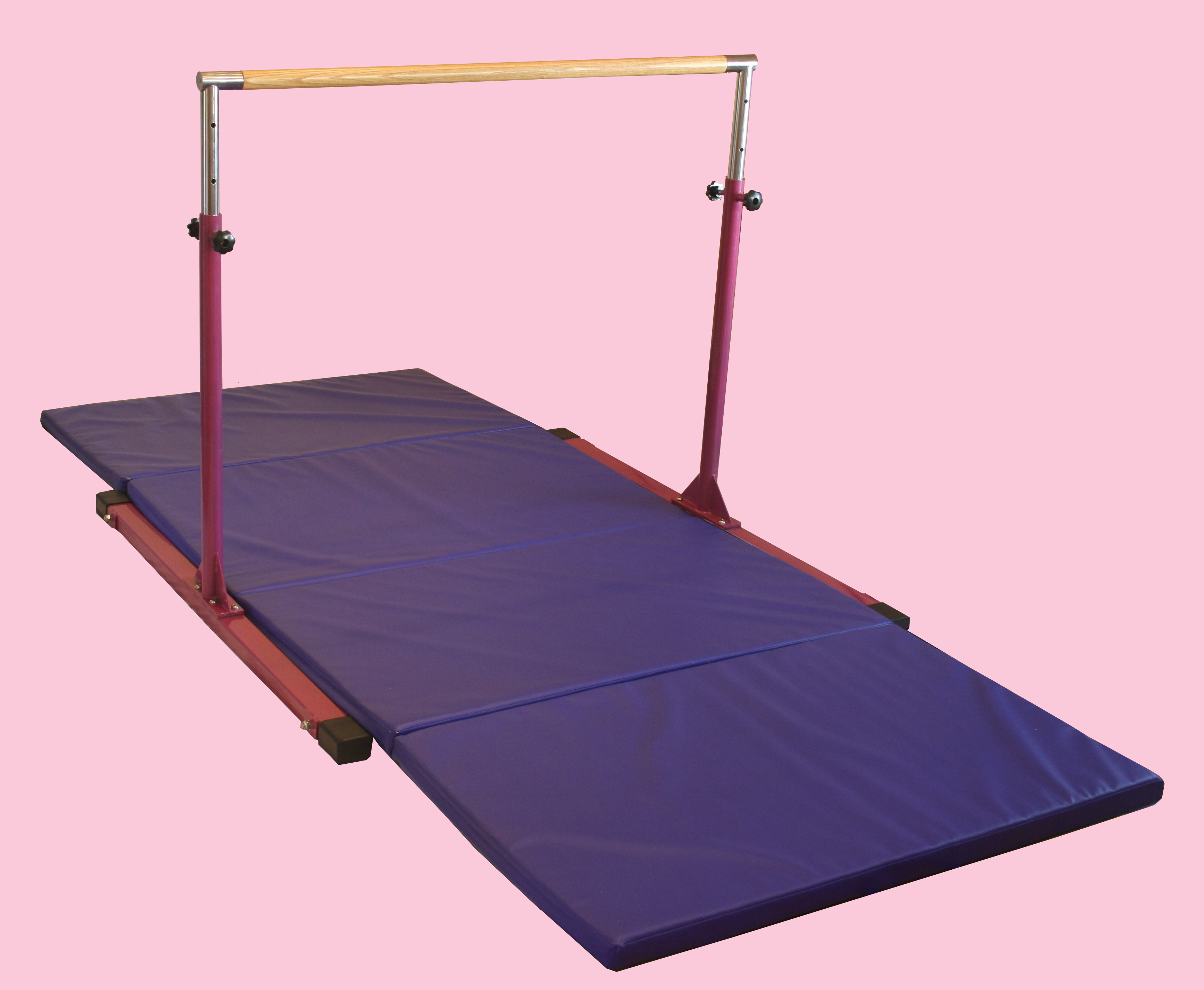 Combo Package Gymnastics Bar Model Dx And 8 Mat Blue